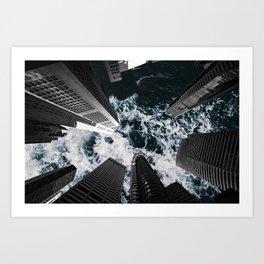 Sky is Rough Art Print