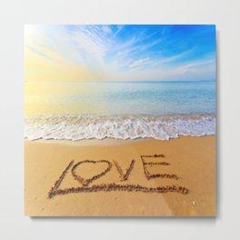 Sunny Beach Love Metal Print