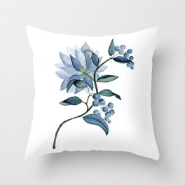 Blue Bayou-tanical Throw Pillow