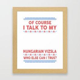Hungarian Vizsla Ugly Christmas Sweater Framed Art Print