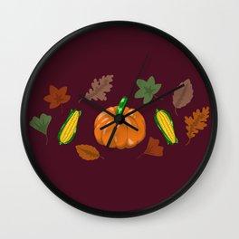 Fall #3 Wall Clock