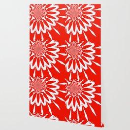 The Modern Flower red Wallpaper