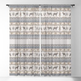 Boho dogs   Borzoi / Russian wolfhound tan Sheer Curtain