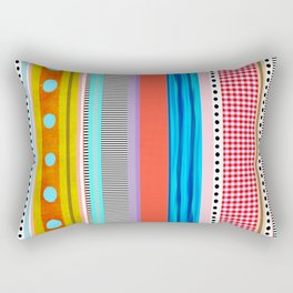 Polka Dots  and Colorful Fun Rectangular Pillow