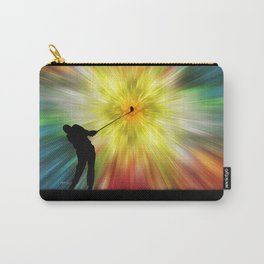 Tie Dye Silhouette Golfer Carry-All Pouch