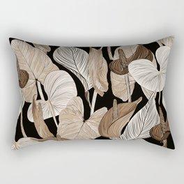Lush lily - russet Rectangular Pillow