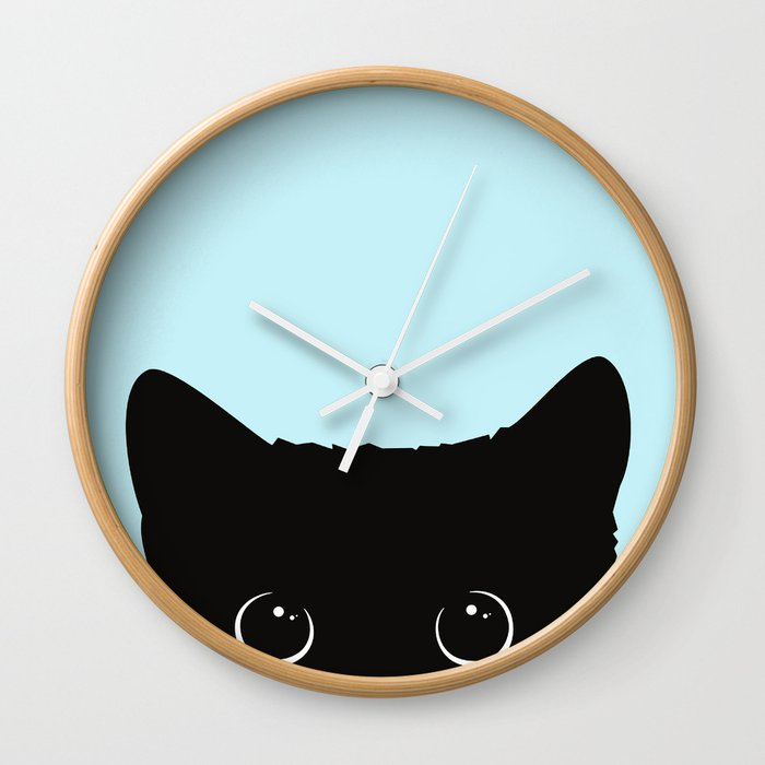 Black cat I Wall Clock