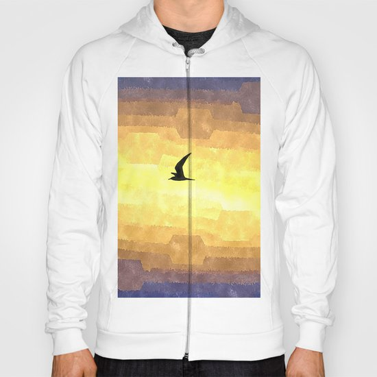 Abstract Seagull Flight Hoody