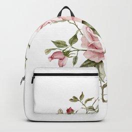 Pink Roses – Original Watercolor Backpack