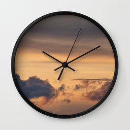 Love | sky photography Wall Clock