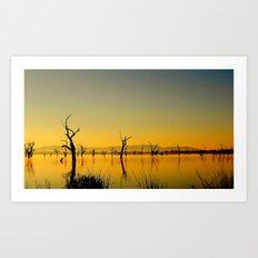 Scupltures in the Lake Art Print