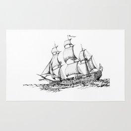 sailing ship . art Rug