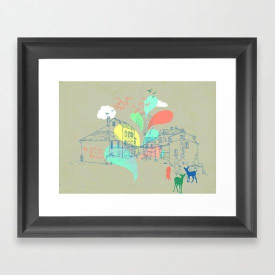my french village Framed Art Print