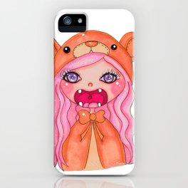 kawaii bear doll iPhone Case