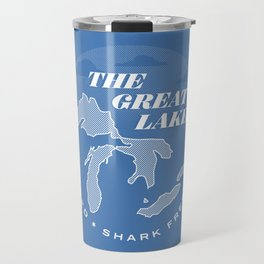 The Great Lakes - Unsalted & Shark Free (Inverse) Travel Mug