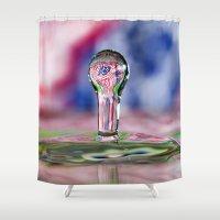 patriotic Shower Curtains featuring Patriotic Splash by ThePhotoGuyDarren