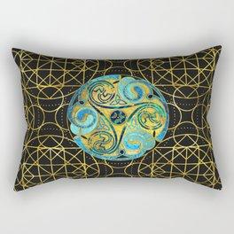 Decorative Triquetra Celtic Ornament Rectangular Pillow