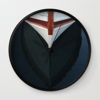 boat Wall Clocks featuring boat by habish