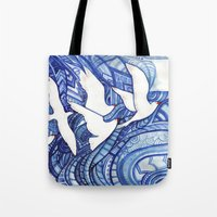 freedom Tote Bags featuring Freedom by Verismaya