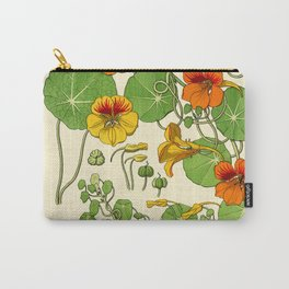 French botanical flower plate - Maurice Verneuil - Capucine Carry-All Pouch