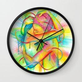 Colorful Kiss Wall Clock