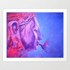 Buddha Kiss (Original) Art Print