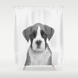 German Boxer Puppy Shower Curtain