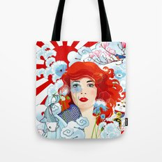 West inspired by East Tote Bag