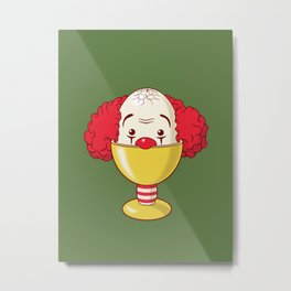clown & egg Metal Print