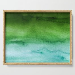 Sky Watercolor Texture Abstract 512 Serving Tray