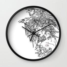 Queen of crows Wall Clock