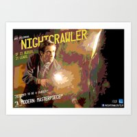 nightcrawler Art Prints featuring Nightcrawler by Joe Humphreys