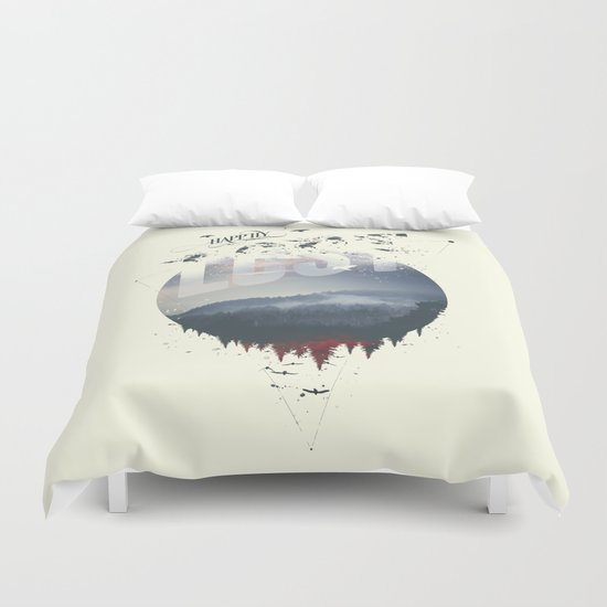 Happily lost Duvet Cover