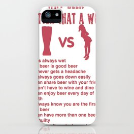beer is always wet - I love beer iPhone Case