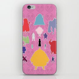 Donquixote Family Silhouette iPhone Skin