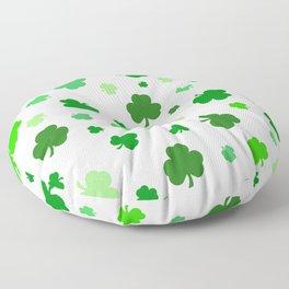 Green Shamrock Pattern Floor Pillow