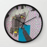 dad Wall Clocks featuring DAD by NouriHeba