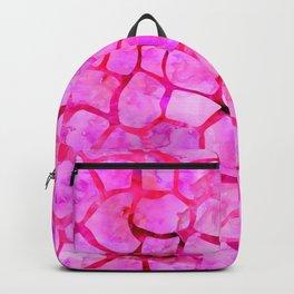 Pink Giraffe Print Backpack