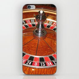 Wooden Roulette wheel casino gaming iPhone Skin
