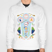wizard Hoodies featuring Pinball Wizard by Ashley Hay