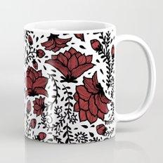 Red Flower Garden Mug