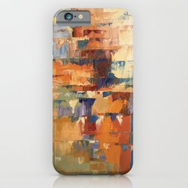 Ardent August Abstract in Red iPhone Case