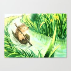 Hedgehog on a journey Canvas Print