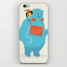Blue-Monster Piggy-Ride iPhone & iPod Skin