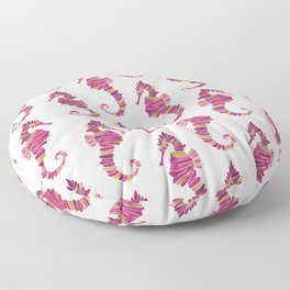 Seahorse – Pink & Gold Floor Pillow