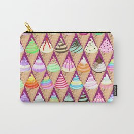 Colourful Ice Creams Diamond Pattern Carry-All Pouch