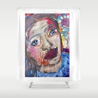 river Shower Curtains featuring River by S.Queimado-Lima