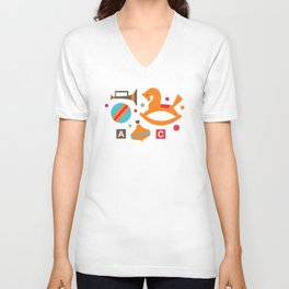 Happy childhood Unisex V-Neck