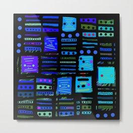 Color square black 02 Metal Print