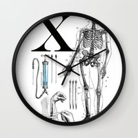 et Wall Clocks featuring ET-Wolverine by Greg-guillemin